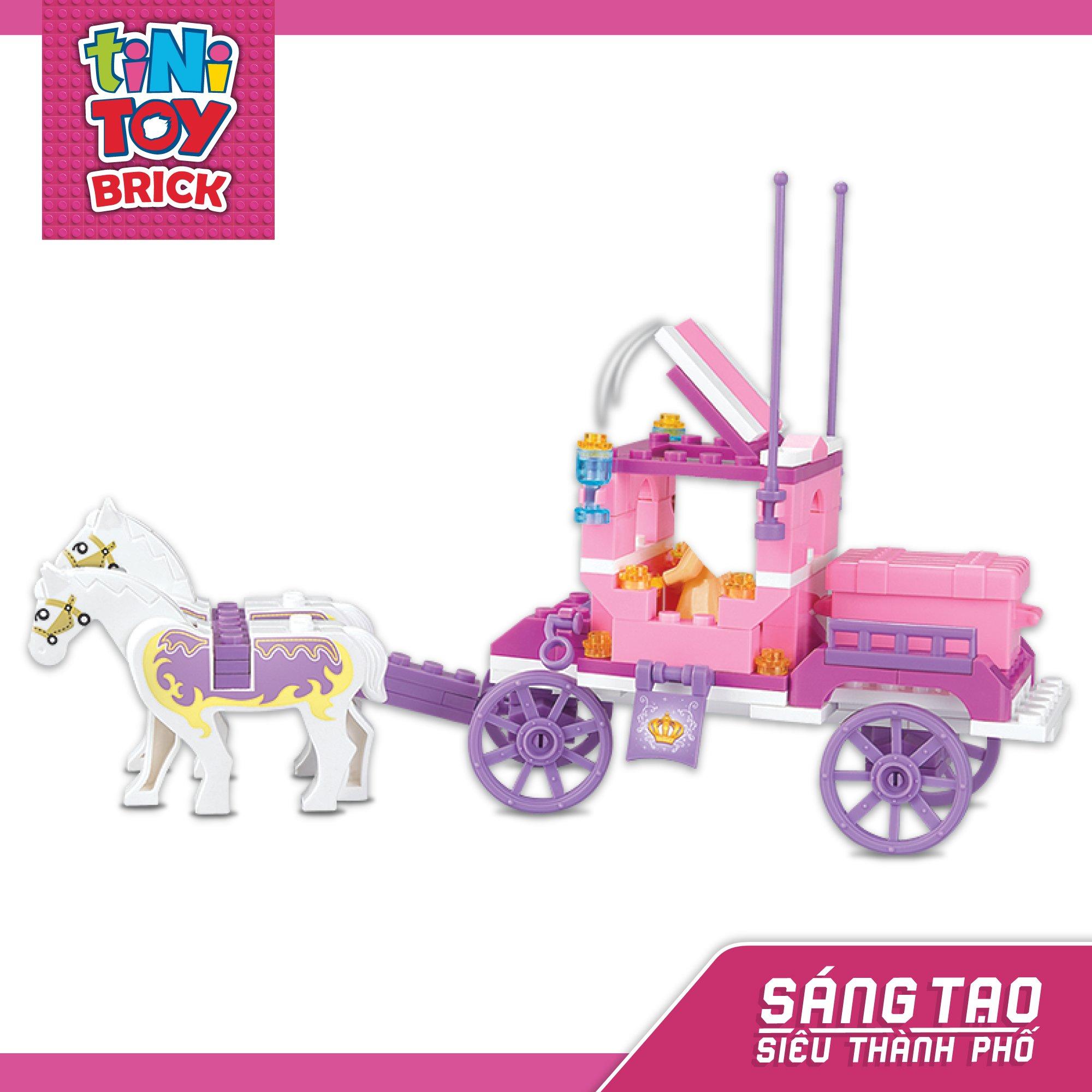 Đồ chơi lắp ráp cổ xe ngựa hoàng gia TINITOY BRICK (137 pcs)