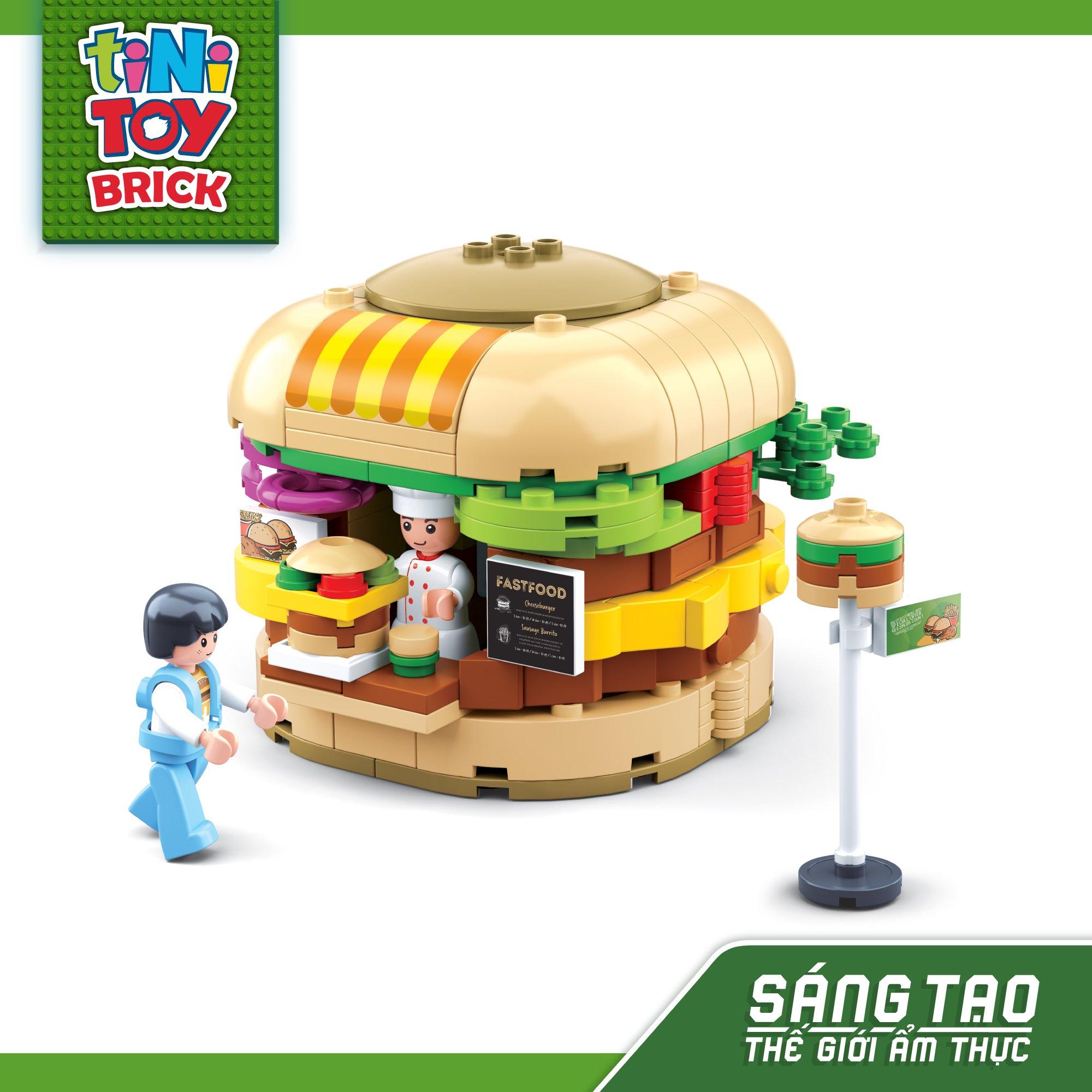 Đồ chơi lắp ráp quầy Hamburger TINITOY BRICK (276 pcs)