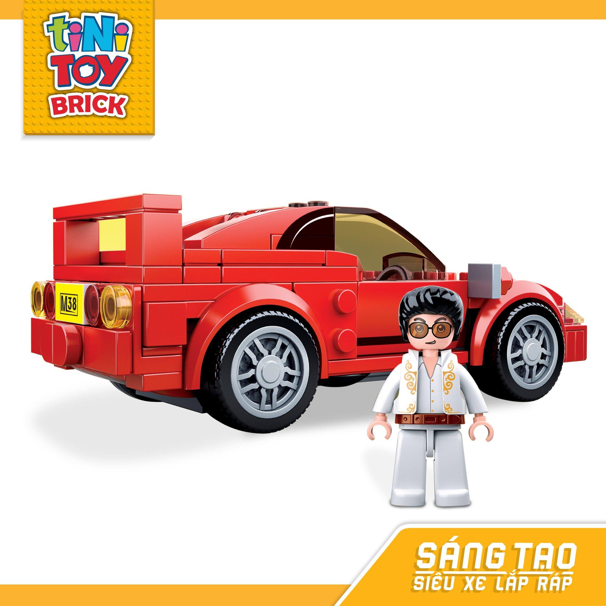 Đồ chơi lắp ráp xe hơi hiệu Ferrari 40 TINITOY BRICK (163 pcs)