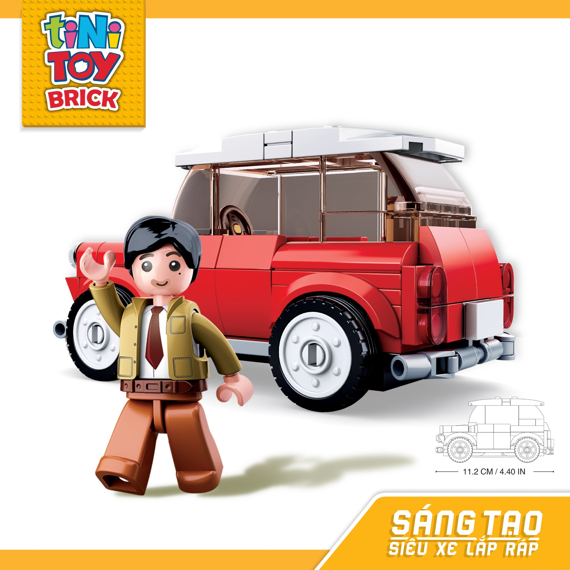 Đồ chơi lắp ráp xe hơi hiệu MINI TINITOY BRICK(150 pcs)