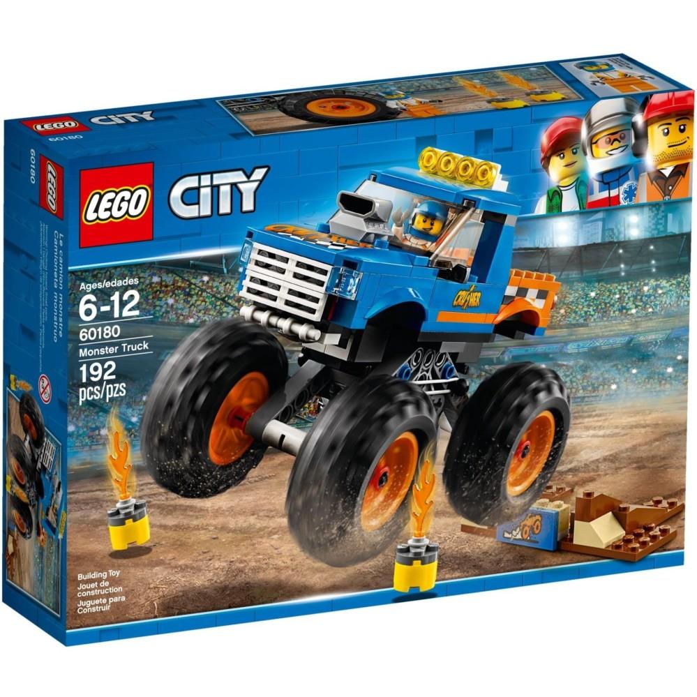 Xe Tải Quái Vật LEGO CITY - 60180 (192 chi tiết)- Hàng chính hãng MYKINGDOM