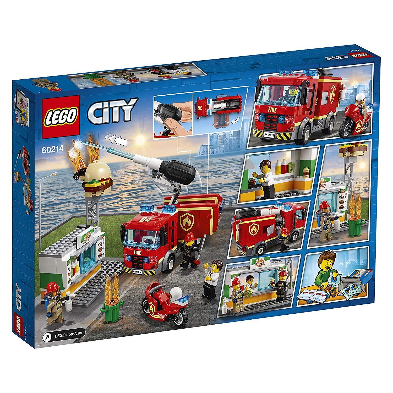 Mô Hình Lắp Ráp Cứu Hỏa Tiệm Bánh Burger LEGO CITY 60214- Hàng chính hãng MYKINGDOM