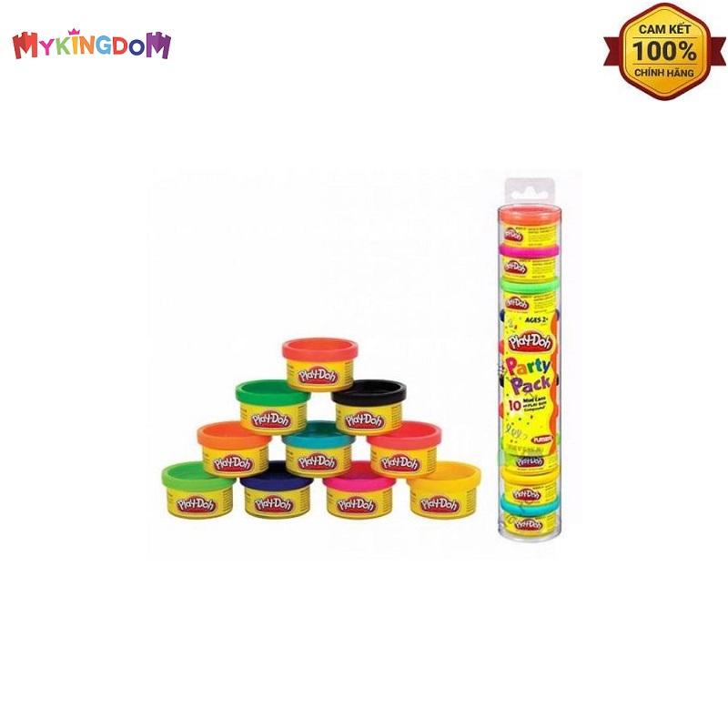 Ống bột nặn 10 màu PLAYDOH 22037- Hàng chính hãng MYKINGDOM