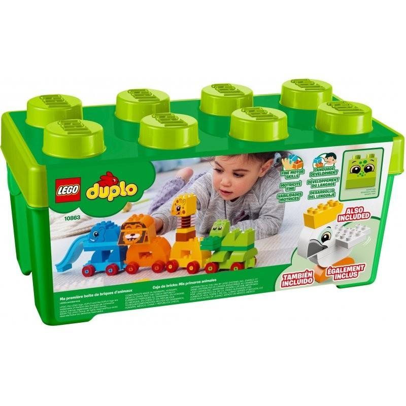 Hộp Lắp Ráp Động Vật Đầu Tiên Của Bé LEGO DUPLO - 10863 (34 chi tiết)- Hàng chính hãng MYKINGDOM