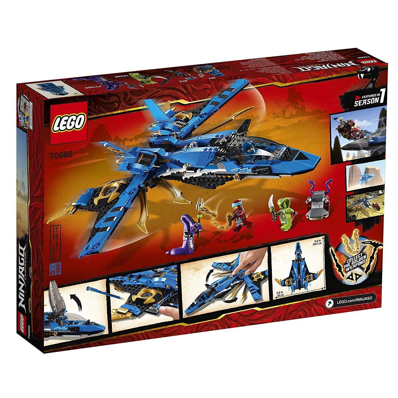 Đồ Chơi Xếp Hình LEGO Ninjago Máy Bay Chiến Đấu Bão Táp Của Jay 70668- Hàng chính hãng MYKINGDOM