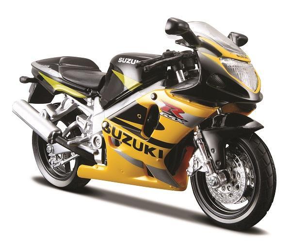 Đồ chơi mô hình Maisto xe mô tô tỉ lệ 1:18 Suzuki GSX-R600- Hàng chính hãng MYKINGDOM