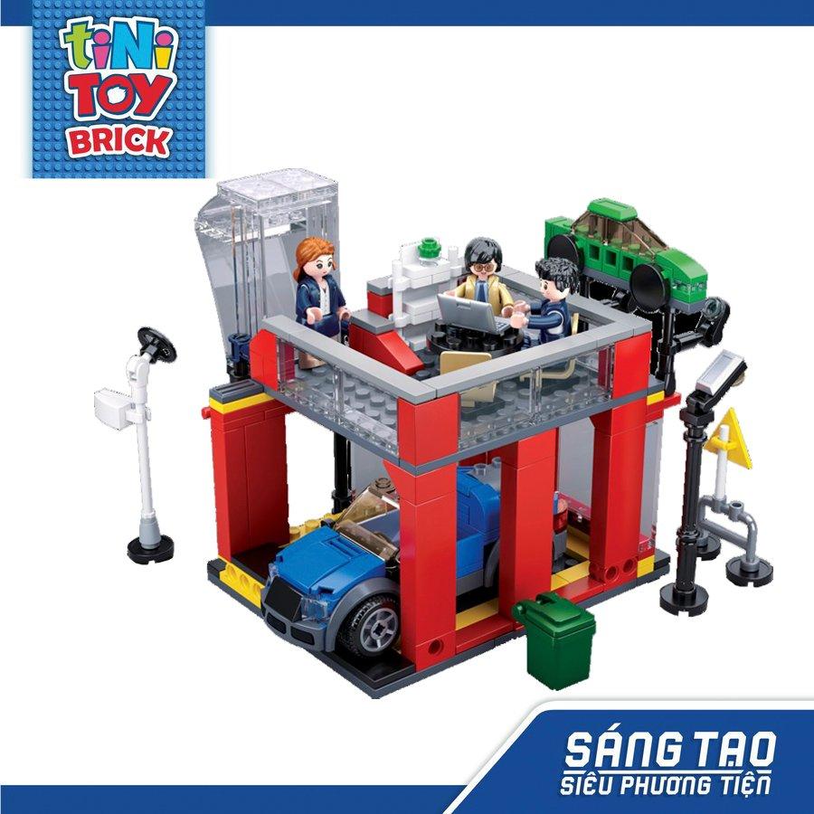 Đồ chơi lắp ráp cửa hàng bảo dưỡng ô tô TINITOY BRICK (302 pcs) (TN)