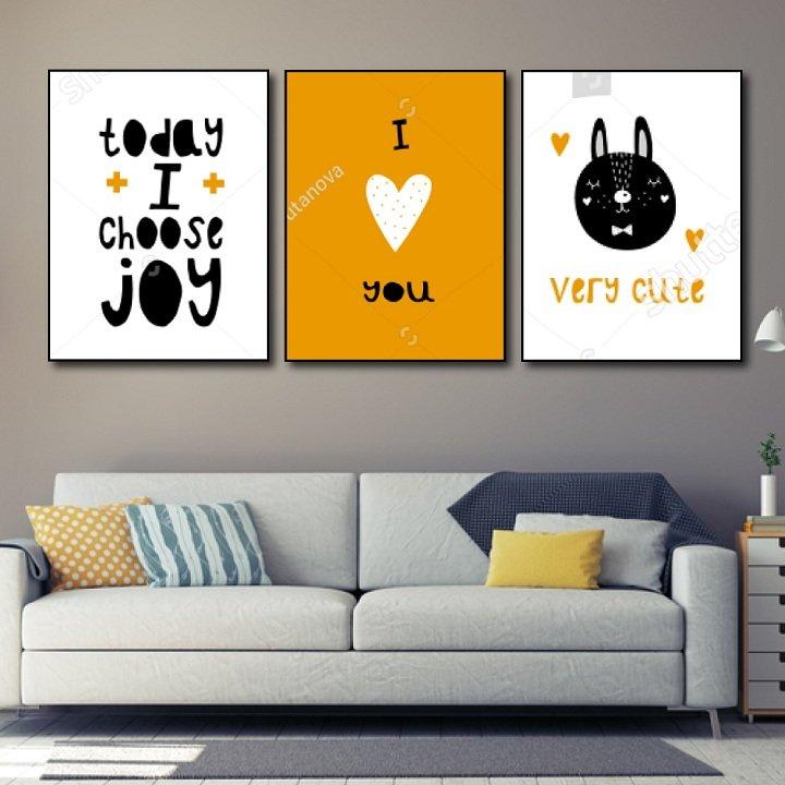 Tranh treo tường today i choose joy