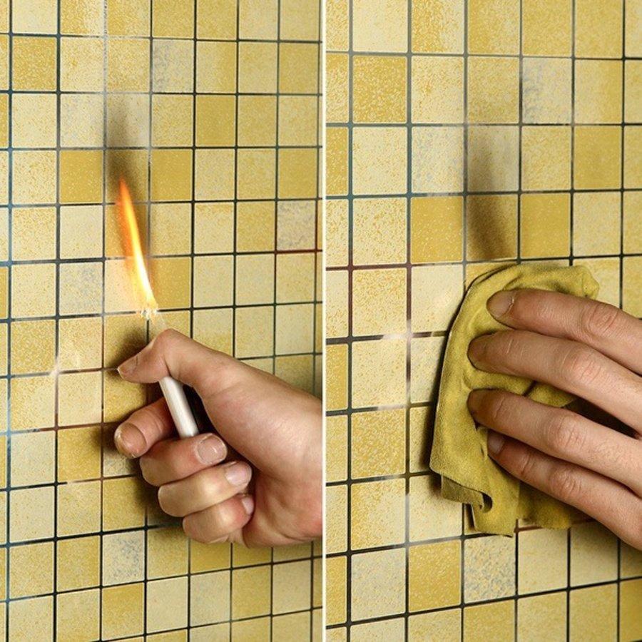 Decal Dán Bếp Họa Tiết Ô Vuông Vàng 3 Khổ 0.6m