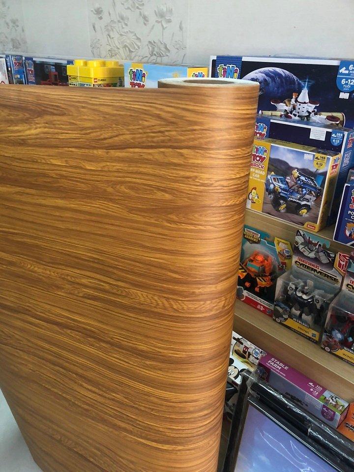 Giấy decal cuộn giả gỗ 10 khổ 1m2