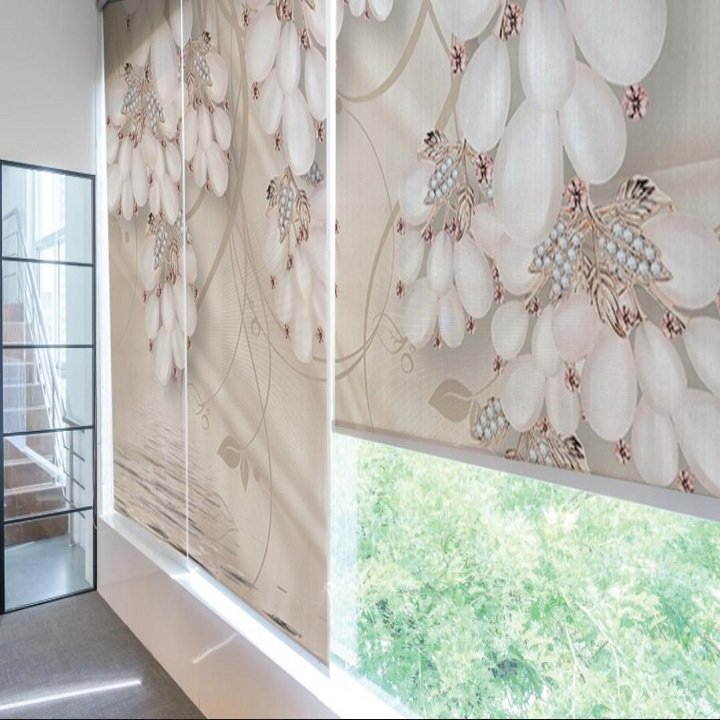 Tranh Rèm Cửa 3D Hoa Ngọc