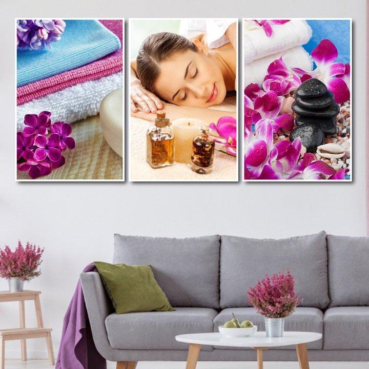 tranh treo tường spa massage thư giãn 3