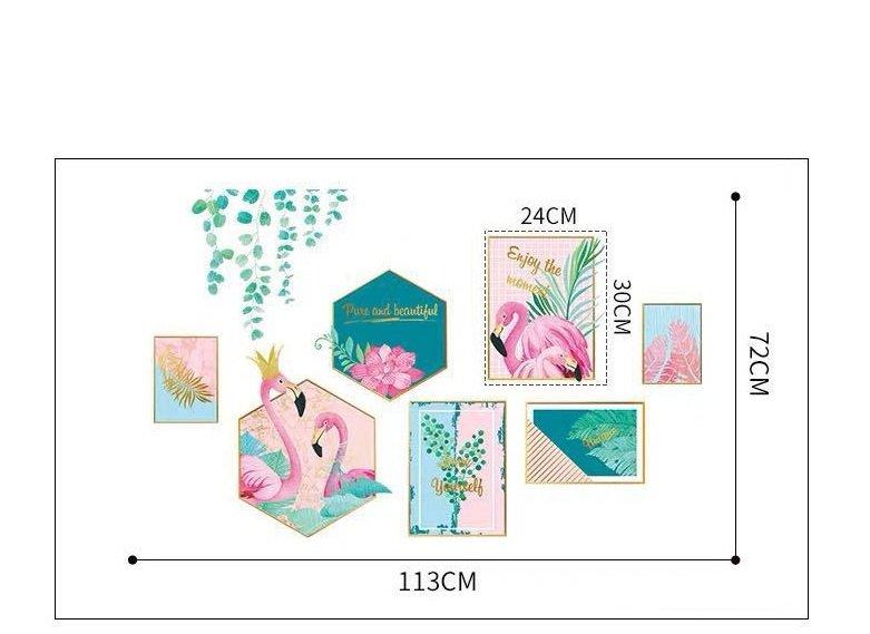 Decal dán tường khung ảnh ảnh hồng hạc