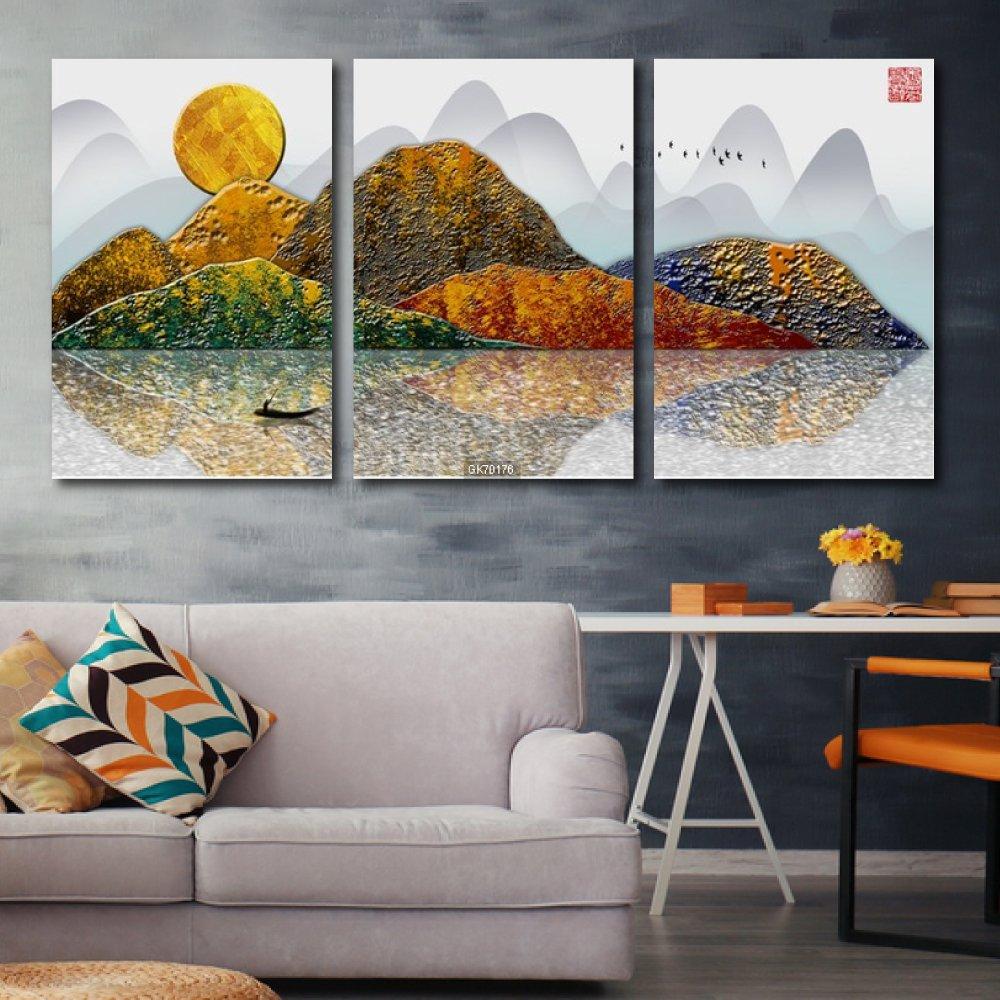 Tranh Canvas Treo Tường Núi Non Trùng Điệp