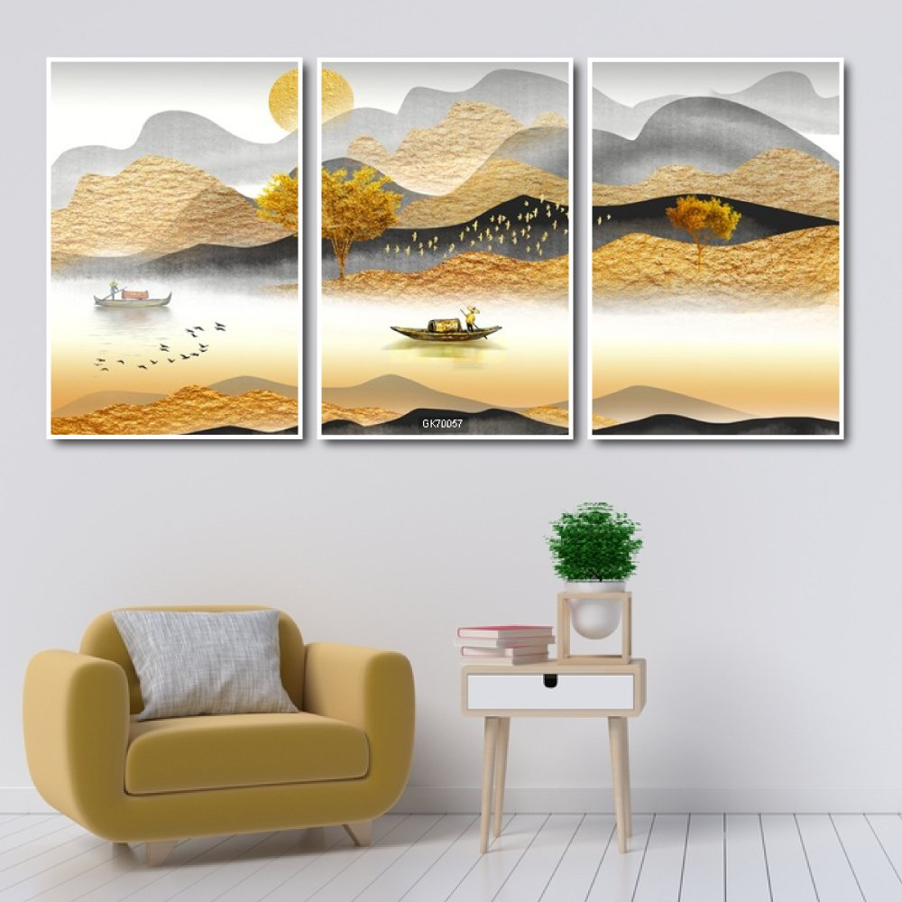 Tranh Canvas Treo Tường Mùa Thu Trên Dòng Sông