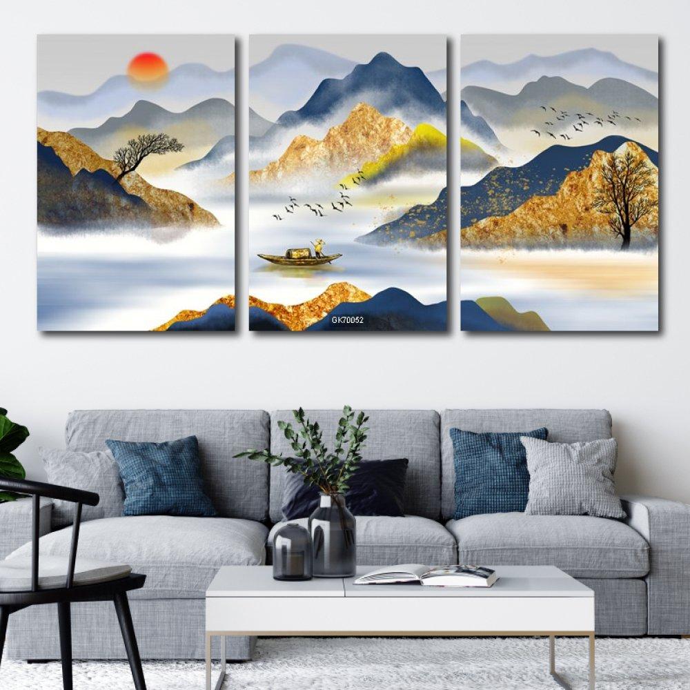 Tranh Canvas Treo Tường Non Nước Hữu Tình 3