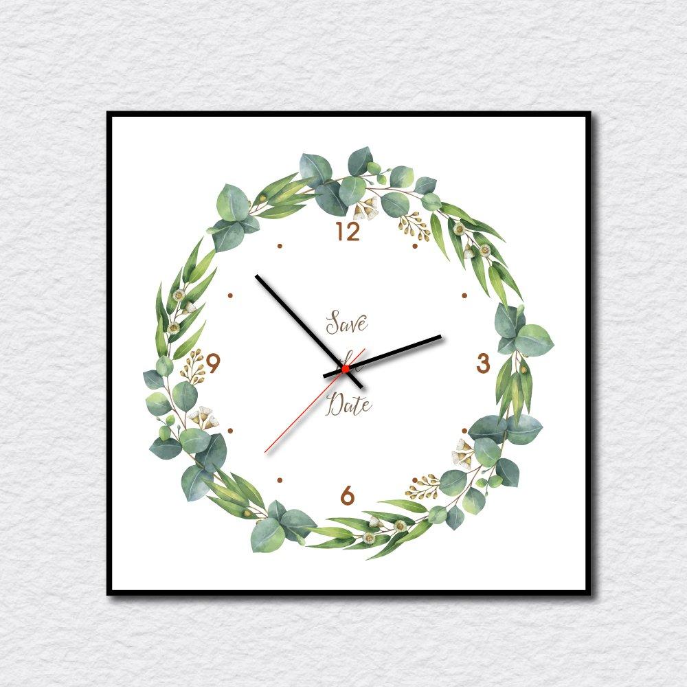 Đồng hồ vintage dây lá xanh 2