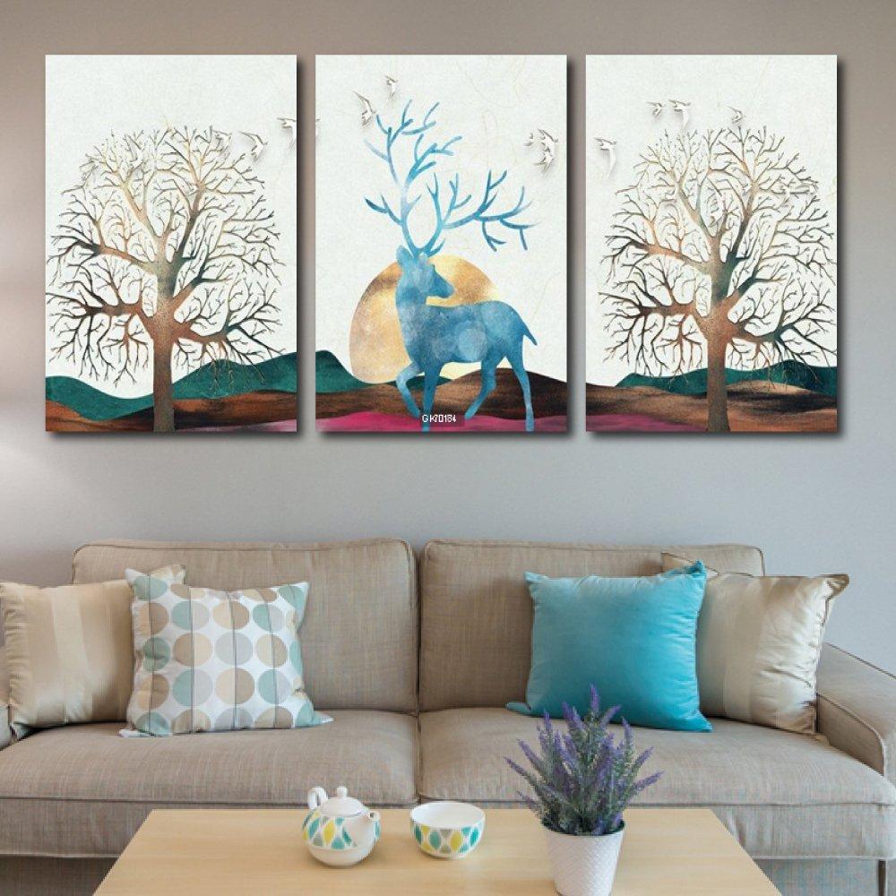 Tranh Canvas Treo Tường Nai Nghệ Thuật 2