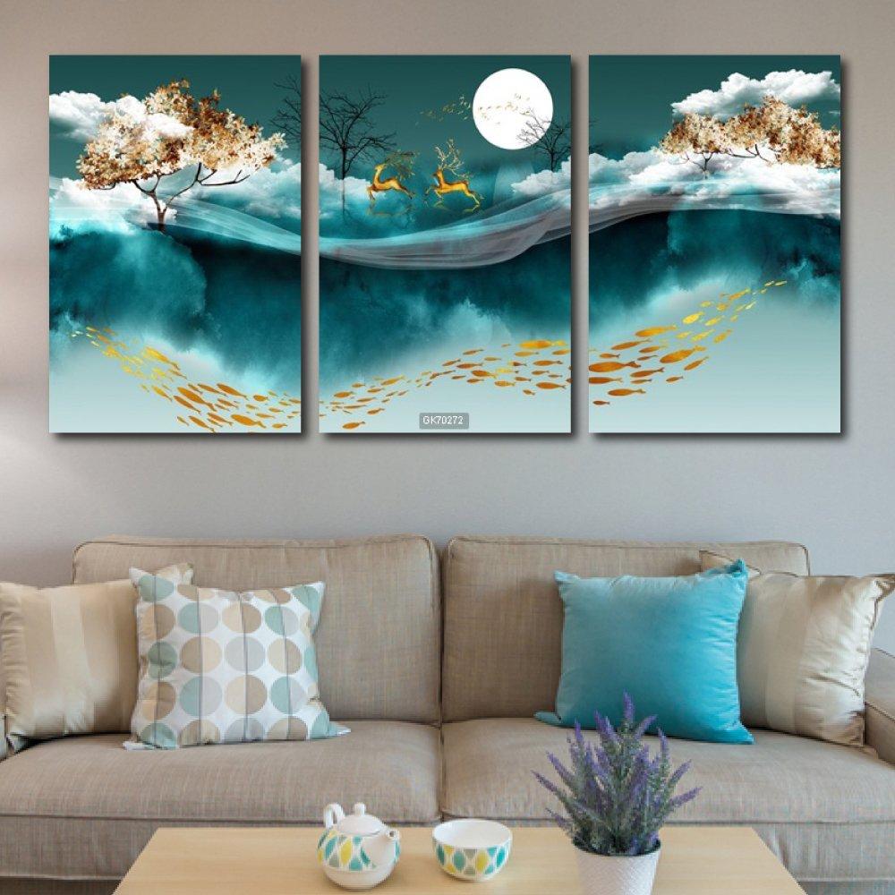 Tranh Canvas Treo Tường Hươu Nghệ Thuật 4