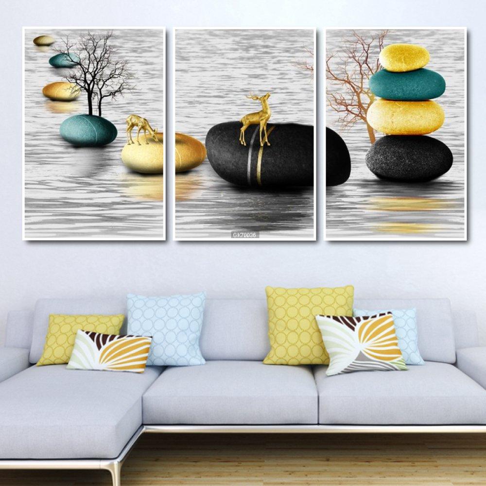 Tranh Canvas Treo Tường Nai Nghệ Thuật