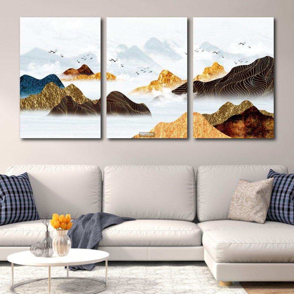 Tranh Canvas Treo Tường Núi Non Trùng Điệp 3