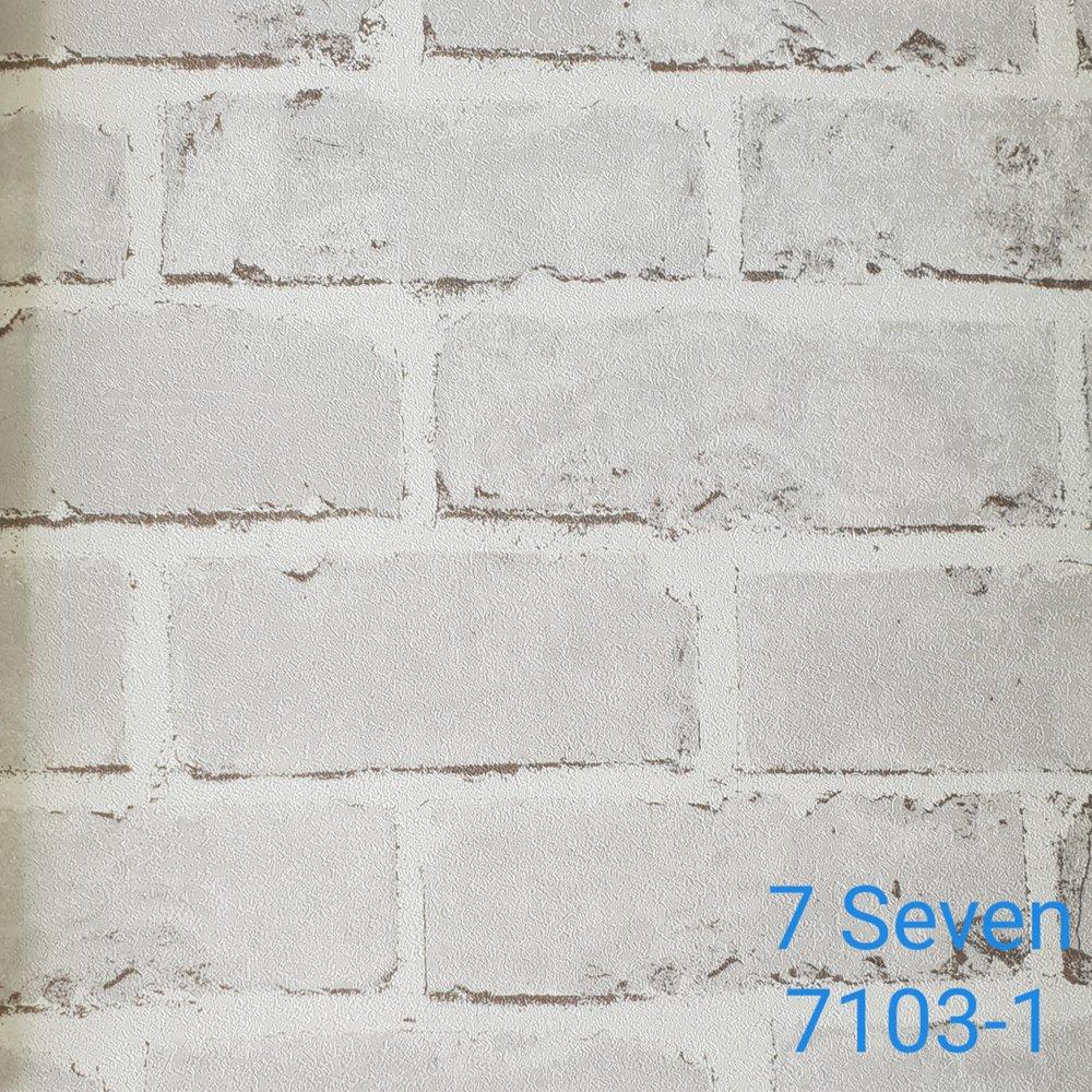 Map giấy dán tường texture gạch trắng 7 Seven 7103-1