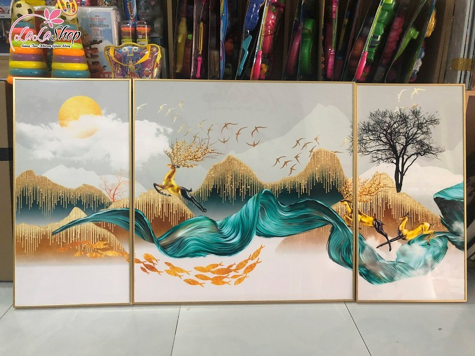 tranh treo tường đàn nai nghệ thuật