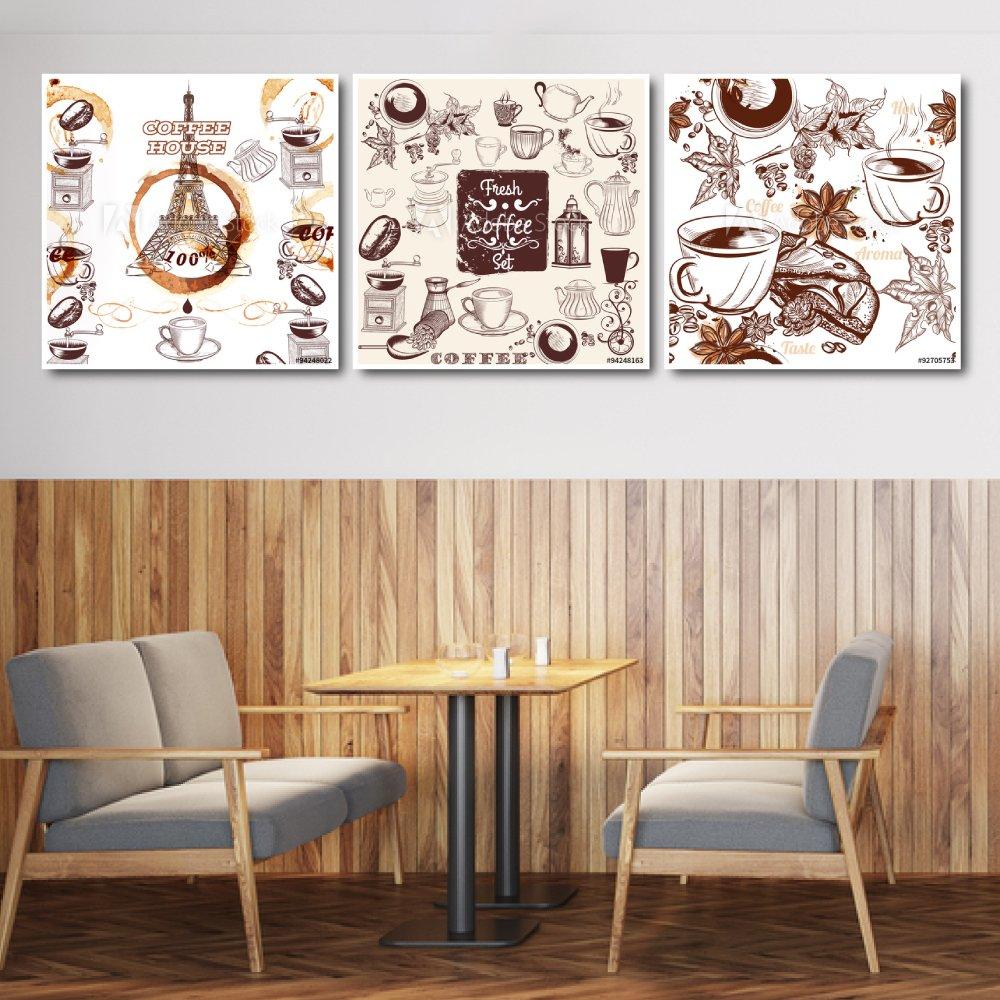 Tranh treo tường fresh coffee set