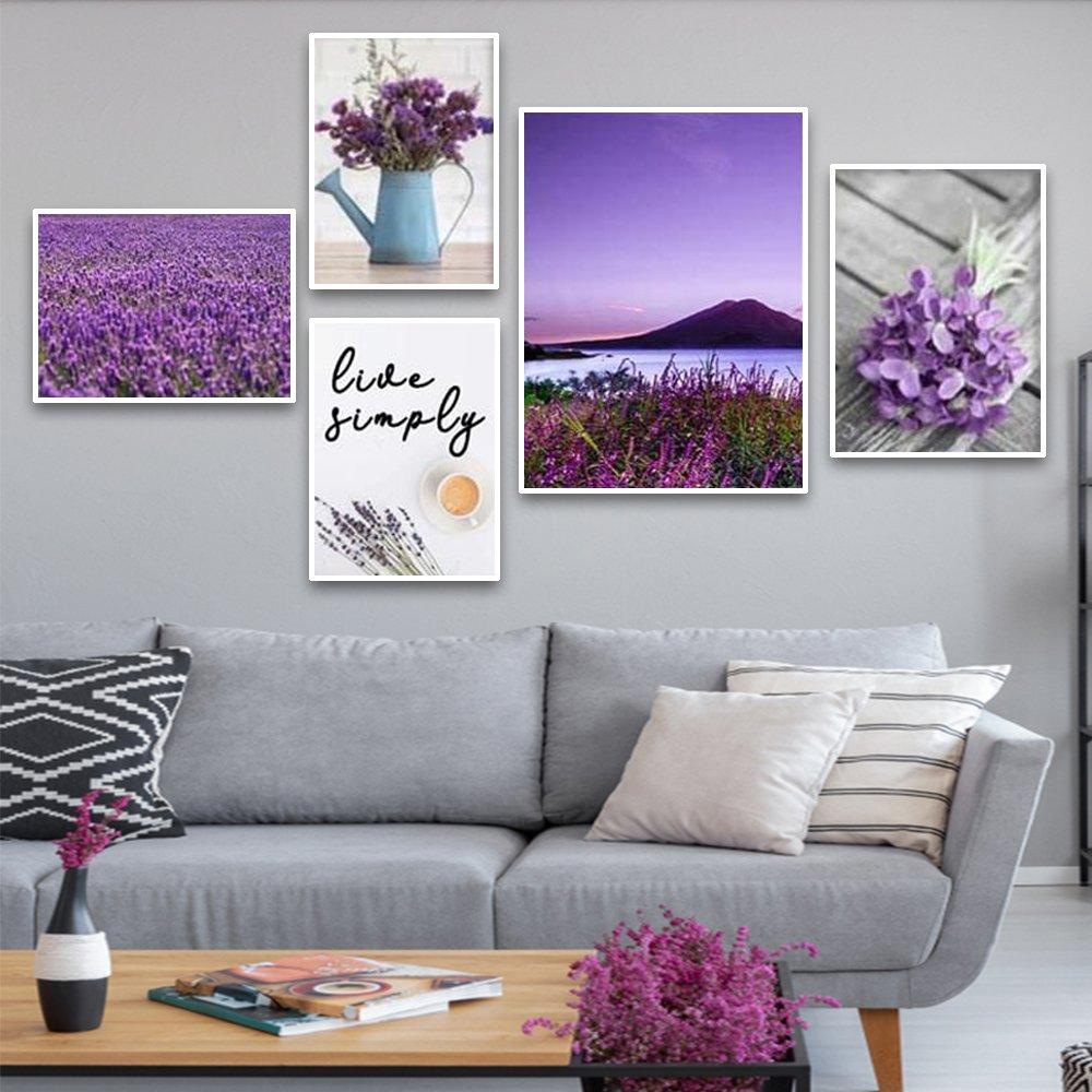 tranh treo tường cánh đồng hoa tím 2