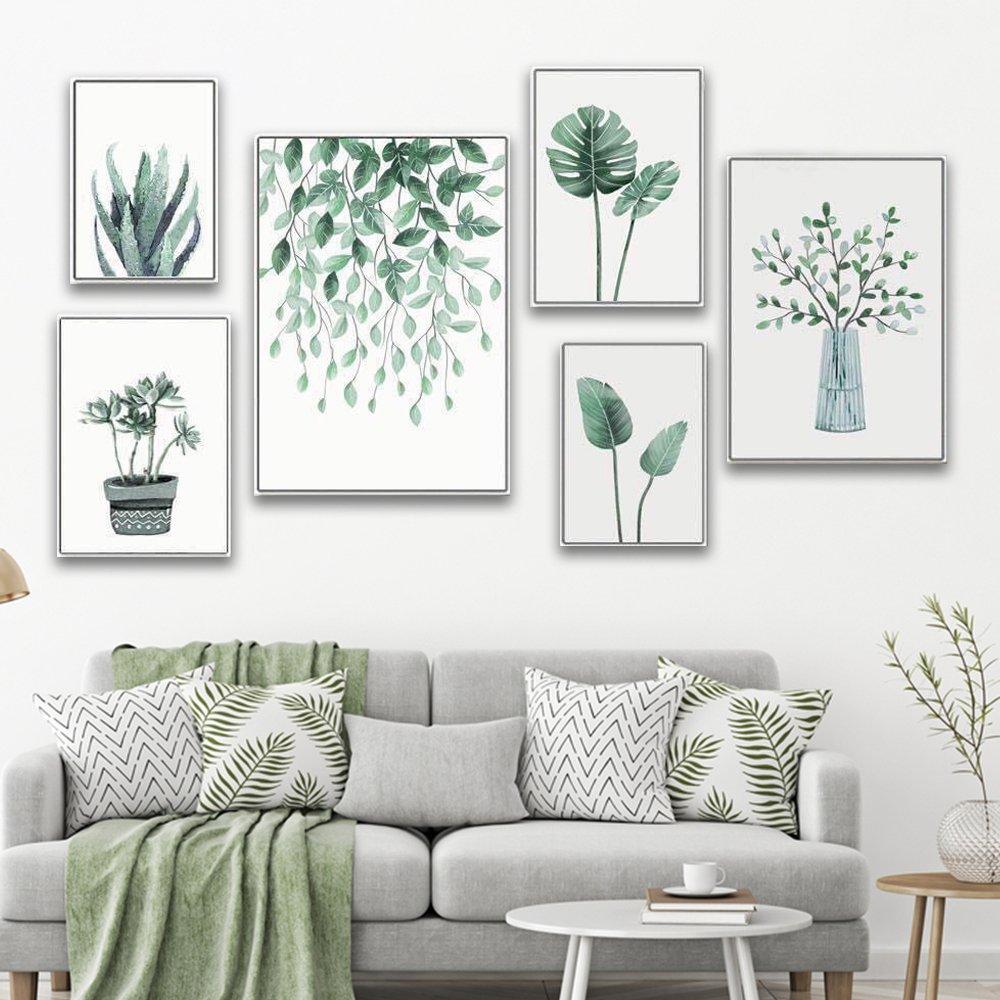 tranh treo tường cây và lá xanh
