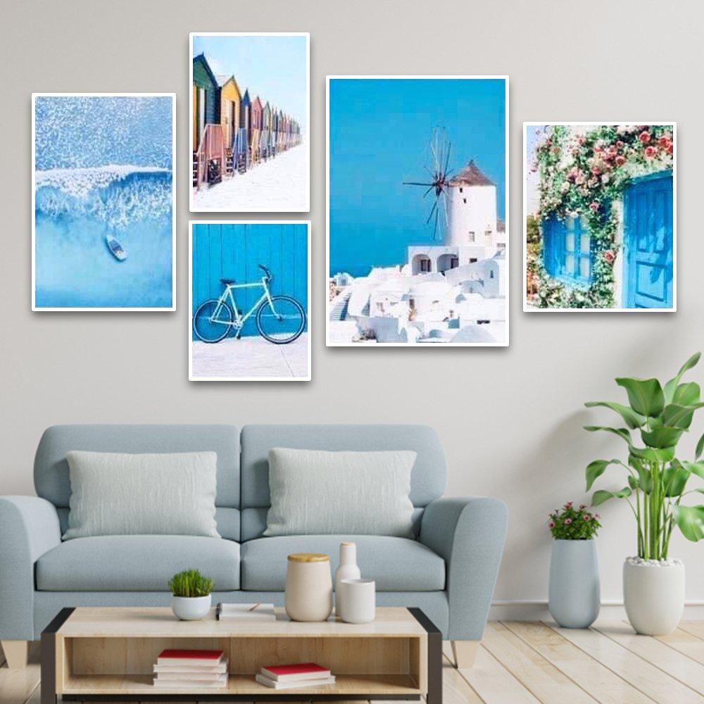tranh treo tường sắc xanh mát mẻ