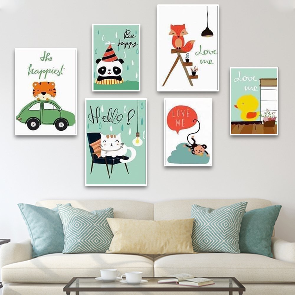 tranh treo tường thú cưng dễ thương