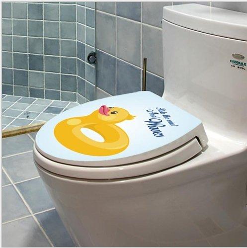 Dán toilet con vịt