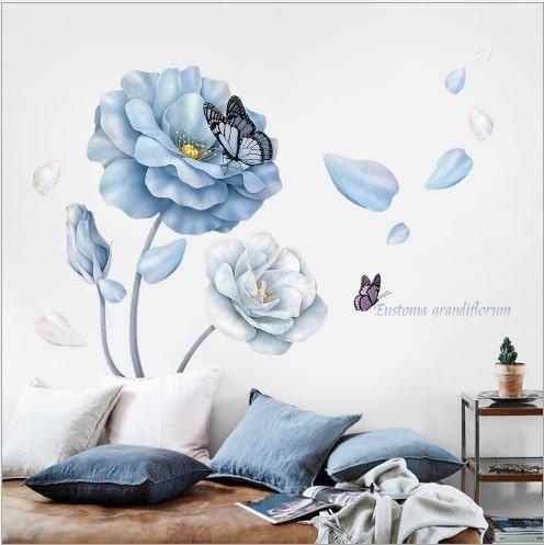 Decal dán tường hoa tím sặc sỡ