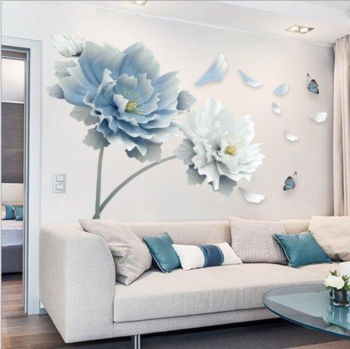 Decal dán tường hoa và bướm 4