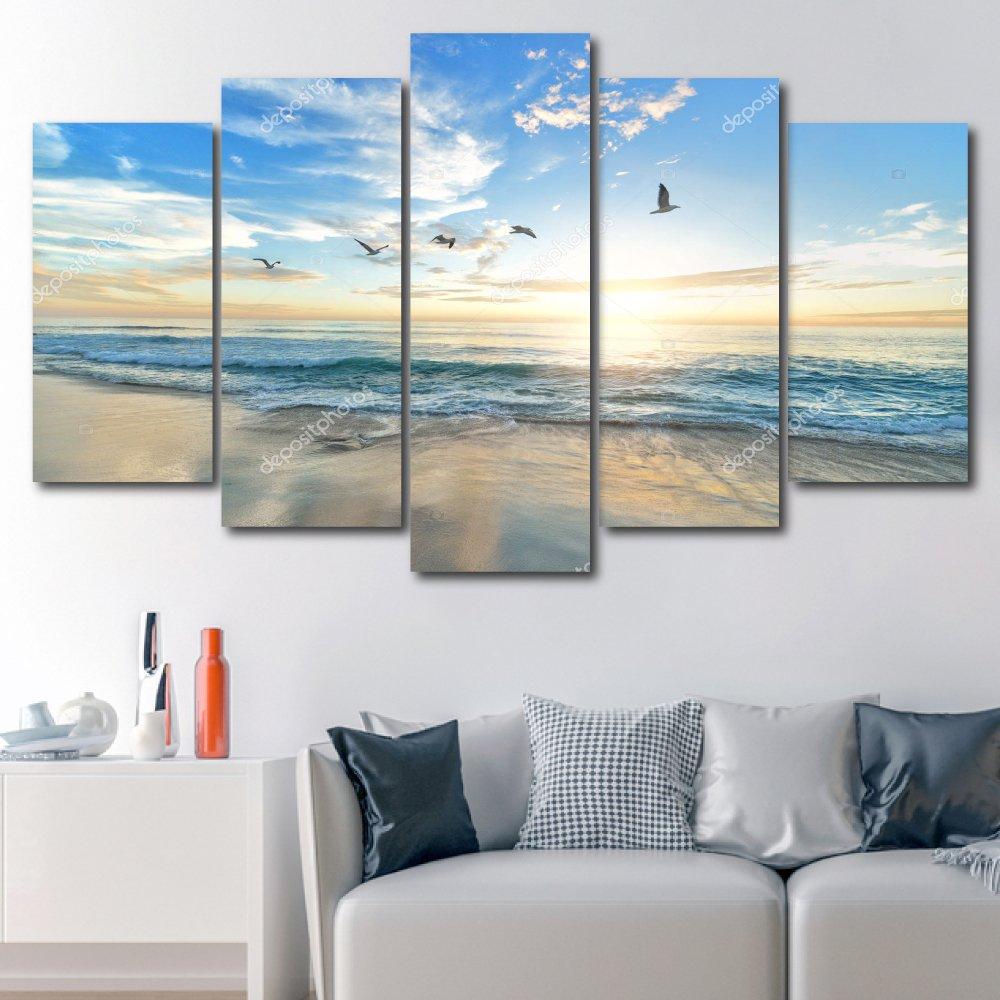 Tranh treo tường cảnh biển và hải âu