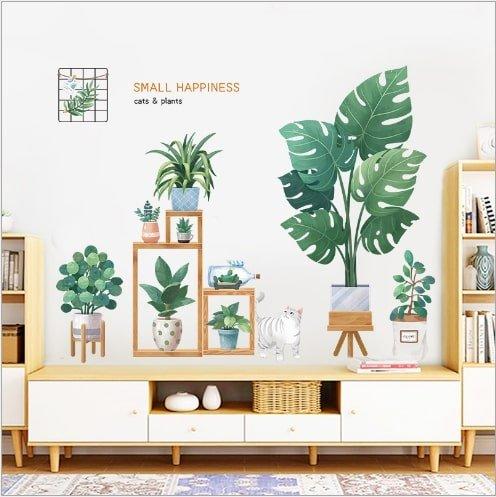 Decal dán tường góc cây xanh 2