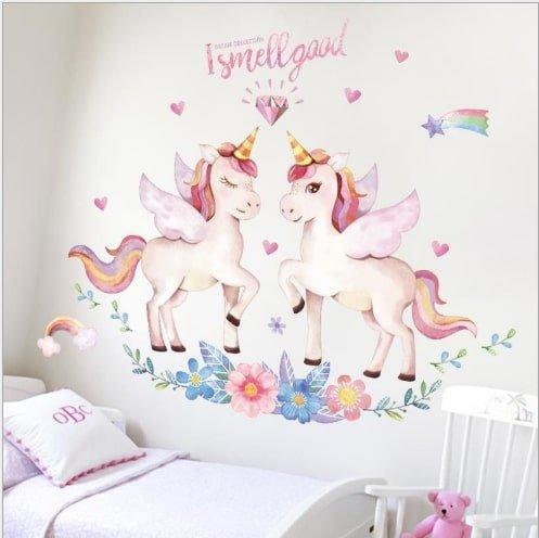 Decal dán tường kì lân hồng