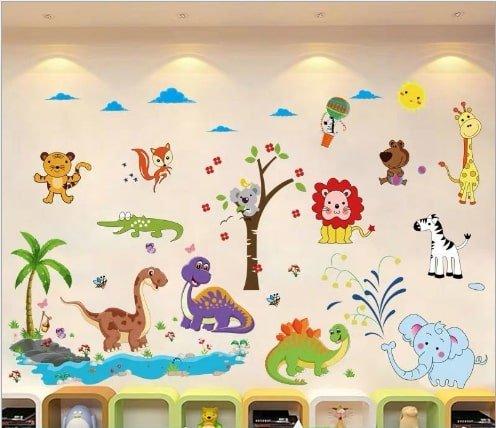 Decal dán tường vườn thú 5