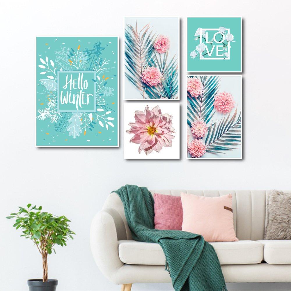 Bộ tranh treo tường hoa lá (HG)