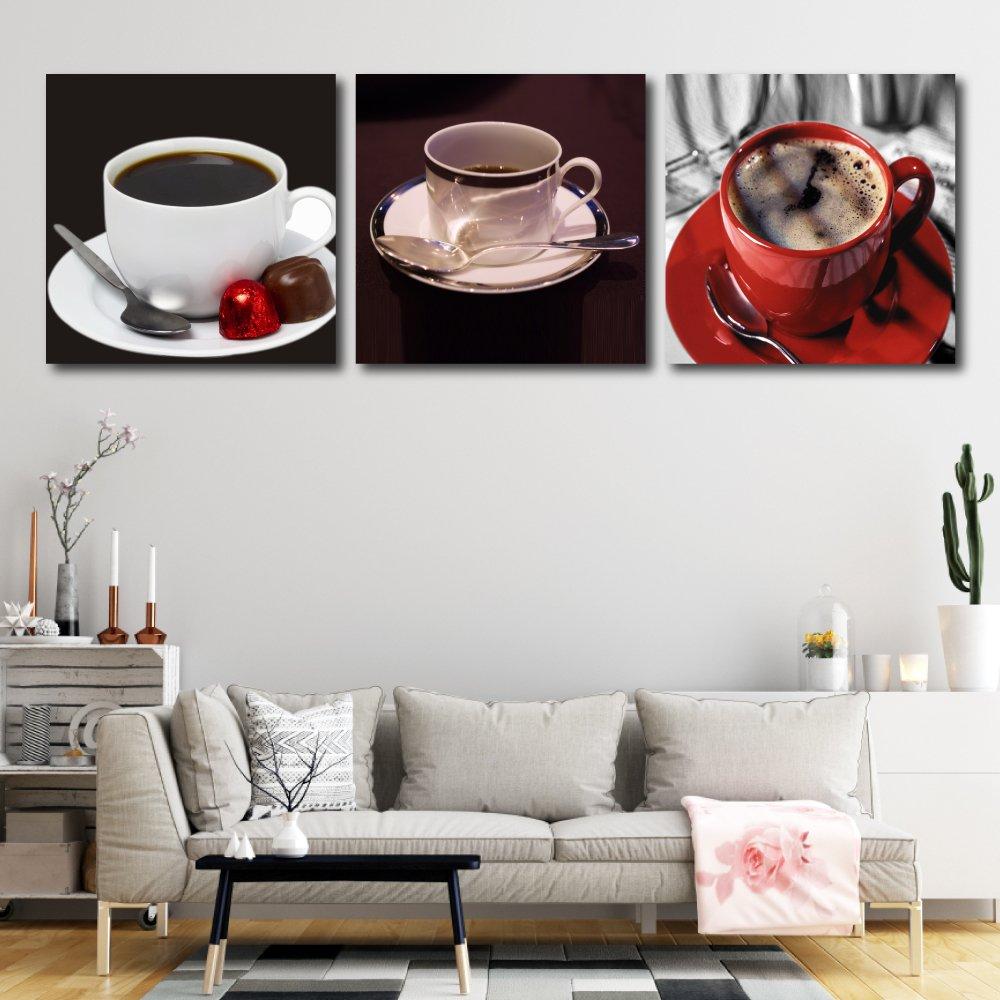 Tranh treo tường ly cà phê đen