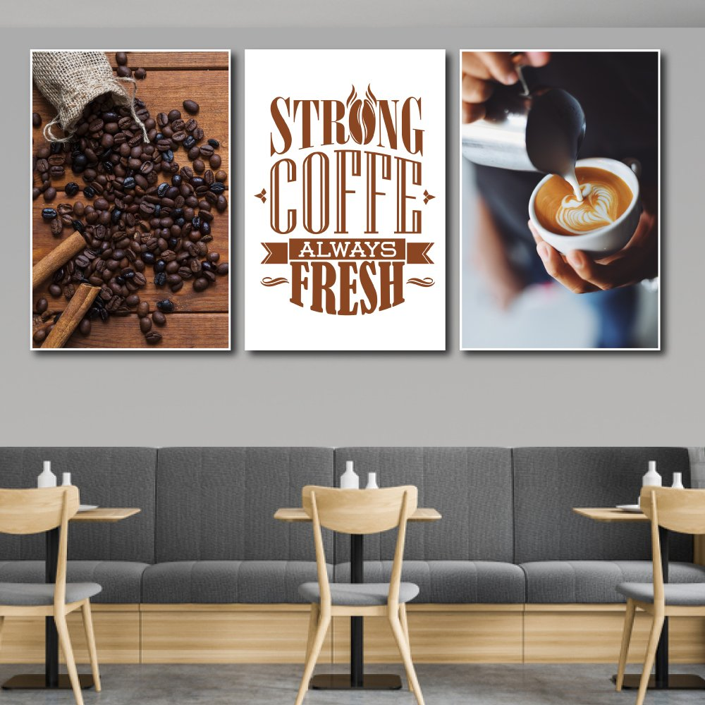 Tranh treo tường strong coffee always fresh
