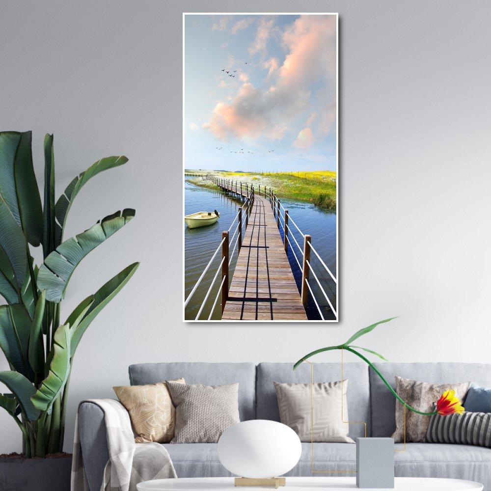 Tranh treo tường cây cầu và phong cảnh