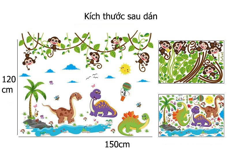 Decal dán tường vườn thú 6