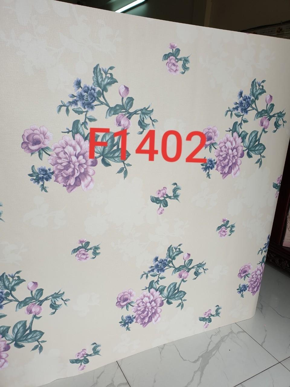 Giấy decal hoa hồng tím khổ 1m2