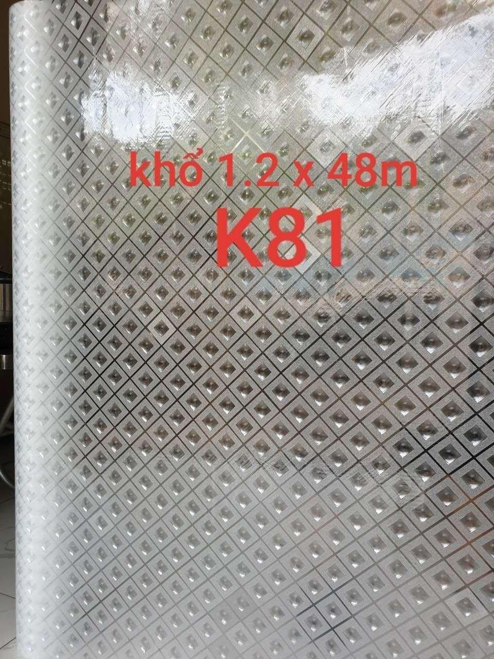 Decal cuộn kính mờ ô vuông trắng khổ 1m2