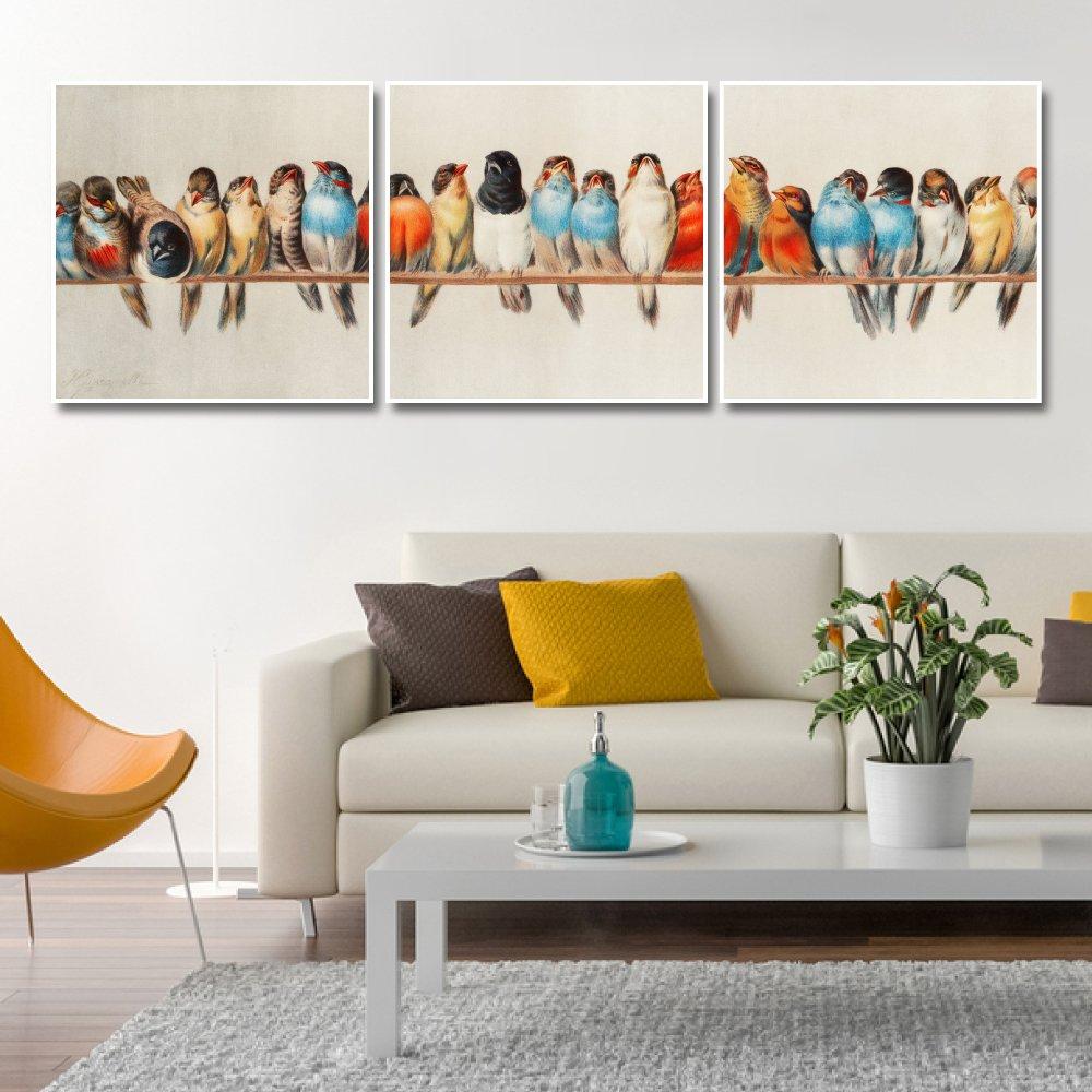 Tranh Treo Tường Đàn Chim Sắc Màu 2