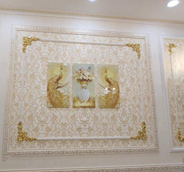 Tranh Treo Tường 3D Đôi Công Hoàng Kim Mang Lại Bình An, Tài Lộc, Thịnh Vượng