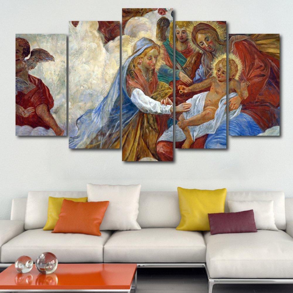 Tranh treo tường chúa bên đức mẹ