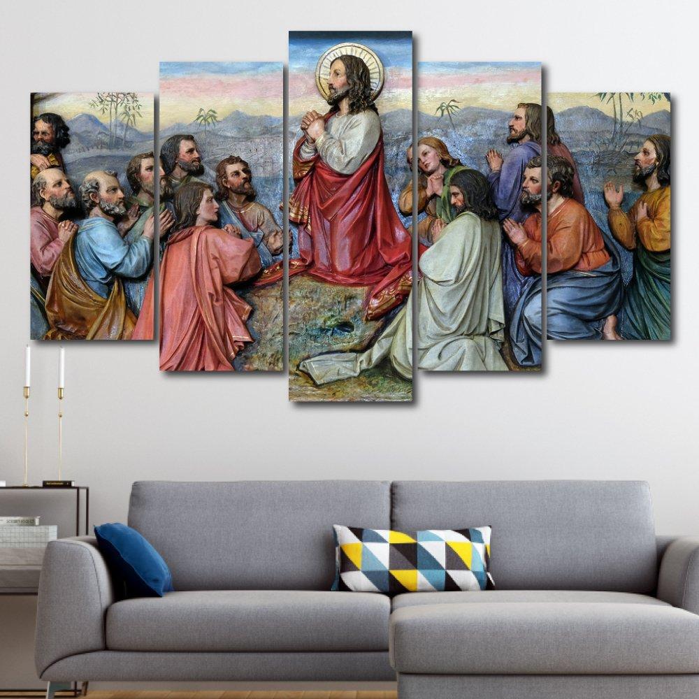 Tranh treo tường chúa cầu nguyện cùng tôn đồ